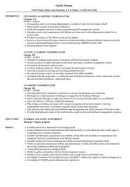 Academic Coordinator Resume Samples Velvet Jobs