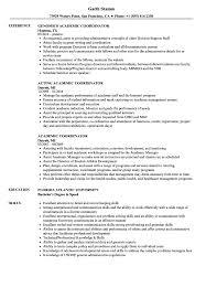 Academic Resume Samples Academic Coordinator Resume Samples Velvet Jobs
