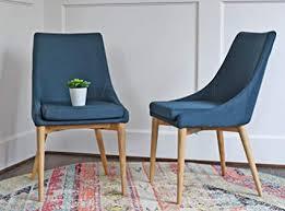 Blue dining room furniture Coastal Dining Image Unavailable Amazoncom Amazoncom Upholstered Modern Dining Room Chairs Mid Century