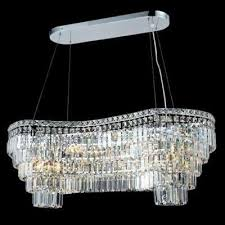 elegant lighting 2019d40c maxim series linear crystal chandelier
