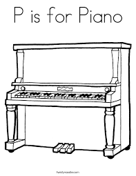 Small Picture P is for Piano Coloring Page Twisty Noodle