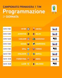 Lega Serie A - La terza giornata del Campionato Primavera 1 TIM. Ecco tutte  le gare! #scopriamotalenti #PrimaveraTIM