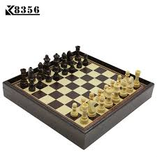 Wooden Board Game Sets K100 Hot Board Game Wooden Chess Set Box Wooden Table 87