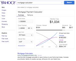 Mortgage Calculator With Principal Payments Yahoo Search Adds A Mortgage Calculator Search Engine Land