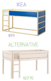 IKEA alternatives that are often cheaper. Love that loft bed and the
