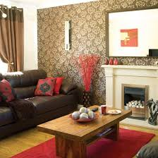 accents living room design brown