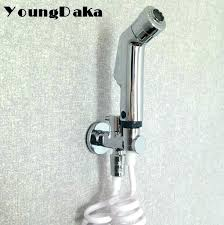 bathtub faucet with sprayer bathtubs abs material chrome finish toilet bidet bathroom shower spray set hose