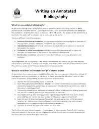 Annotated Bibliography Template Mla   websitein   com