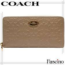 coach wallet coach wallet round fastener long wallet stone beige emboss patent leather f53126imstn