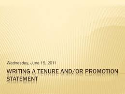 writing a tenure statement