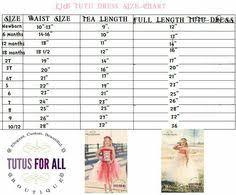 Skirt Size Chart For Toddlers 53 Best Tutu Sizing Charts Images Tutu Diy Tutu Tutu