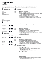 Sample Resume For A Receptionist Receptionist Resume Sample Complete Guide 20 Examples