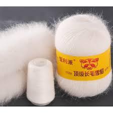 Online Shop <b>100g</b>/2 Ball <b>Natural</b> Mink Knitting Yarn Luxury Hairy Fur ...