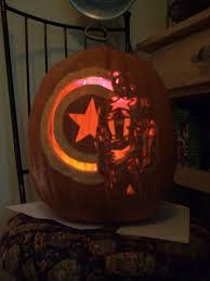 Captain America Pumpkin Designs Captain America Pumpkin Carving Ideas Captain America