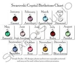 Swarovski Crystal Birthstone Chart Add A Birthstone Swarovski Crystal Channel Style Birthstones In Silver Settings