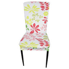 image unavailable image not available for color meolin printed stretch dining room chair protector cover slipcover