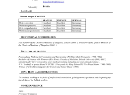 100 Civil Engineering Cv Resume Template Of Translator