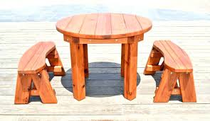 round wooden outdoor table s wooden