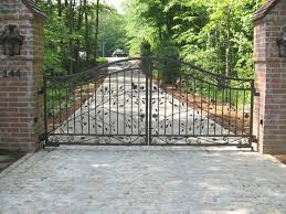 Brick Entrance Designs Driveway Custom Designed Driveway Gates Tri State Gate