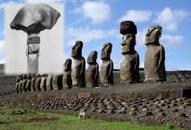 easter island statues by honey hooper fig 92 obsidian spear heads