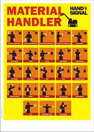 Material Handler Safety Poster Material Handler Hand