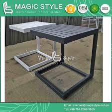 outdoor aluminum side table garden coffee table aluminum coffee table square tea table modern side table