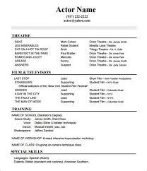 Resume Example Clinton Jake Acting Resume Beginners Resume Template Sample  Free Sample Resume Child Actor