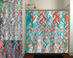 coral and teal shower curtain. 🔎zoom coral and teal shower curtain l
