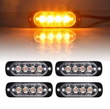 Strobe Light Bar Amazon Amazon Com Younar 4pcs Led Car Flash Strobe Light Bar 12w