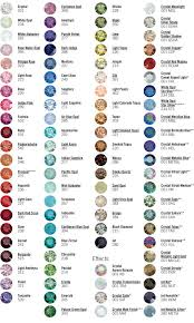 Swarovski Ab Color Chart Swarovski Crystals Color Chart Crystal Beads Crystals