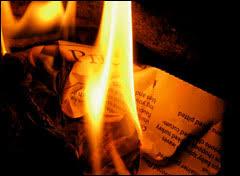 Image result for burning paper