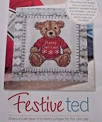 Cute Little Festive Teddy Bear In A Merry Christmas Jumper