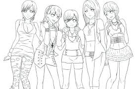Coloring Pages Of Girls Coloring Pages For Girls Free Printable And