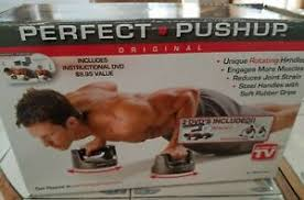 Details About Bodyrev Perfect Pushup Fitness Equipment Handles Workout Chart Instructional Dvd