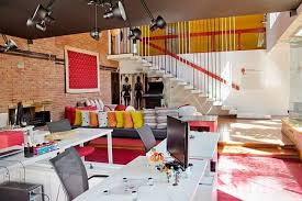 colorful office space interior design. Exellent Space To Colorful Office Space Interior Design S