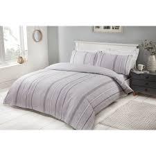 343068 343069 marl stripe grey duvet set