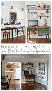 desk ideas for home office. Vintage Modern Home Office Reveal: $100 Room Challenge Desk Ideas For