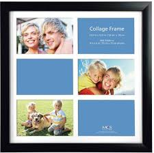 mcs 13 25x13 25 inch collage frame with 6 openings black 48478 souq uae