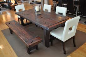 rustic dining table with bench new room set sets a onyou 2 within benches for tables ideas 17