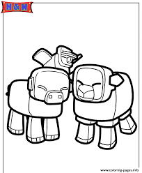 minecraft animals coloring pages