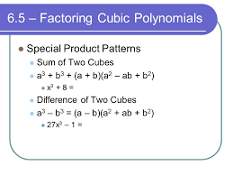 How To Factor A Cubic Chapter 6 Polynomials And Polynomial Functions Ppt Video Online