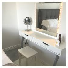 ikea alex makeup table dressing desk hack ekby shelf with kolja mirror