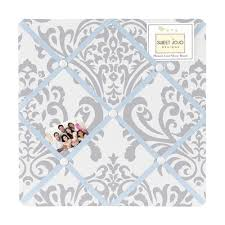 Damask Memo Board Simple Blue And Gray Avery Fabric MemoryMemo Photo Bulletin Board By Sweet