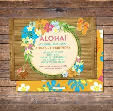 Hawaiian Pool Party Invitations 20 Luau Birthday Invitations Designs Birthday Party Invitations