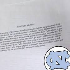 unc football player rosa parks essay outline power point help  this ridiculous one paragraph essay by a unc business insider