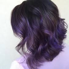 Bob Hairstyle With Dark Purple Highlights