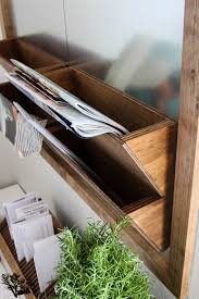 galvanized metal wood wall organizer