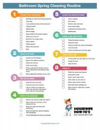 Bathroom Spring Cleaning Checklist Clean Better Than The Pros