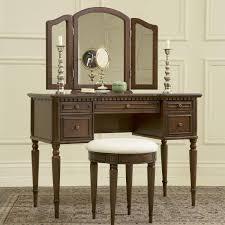 Three Way Vanity Mirror Bedroom Three Folding Vanity Mirror With Curved Chandler Holder
