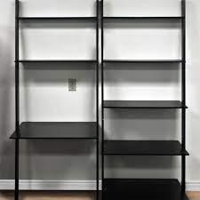 office bookcase with doors. leaning shelf bookcase with computer desk office furniture home bookcases doors sydney